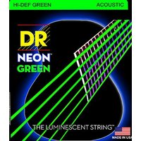 DR NGA-12 HiDef Green Neon Acoustic Medium 012/054