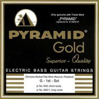 Pyramid 640 Gold Flatwound Short Scale 040/100 4-String